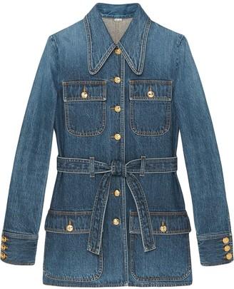 Gucci Multi-Pocket Denim Jacket