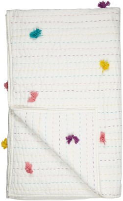 little home at John Lewis Pom Pom Quilt, Multi