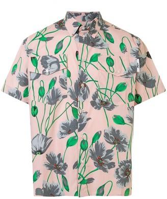 MSGM Floral-Print Short-Sleeved Shirt
