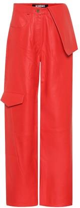 Jacquemus Le Pantalon De Nimes leather pants