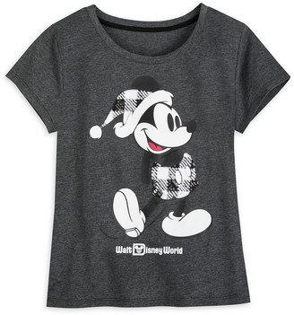 Disney Mickey Mouse Classic Holiday Plaid T-Shirt for Women Walt World