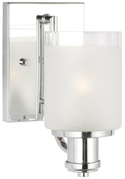 """Andover Millsâ""""¢ Baby & Kids Norwood 1-Light Dimmable Bath Sconce Andover Millsa Baby & Kids Finish: Chrome, Bulb Included: No, Energy Star Compliant: No"""
