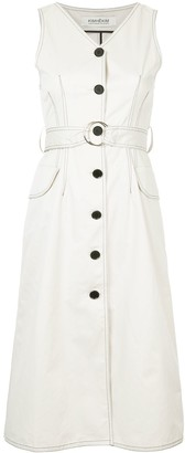 Kimhekim Sleeveless Shirt Dress
