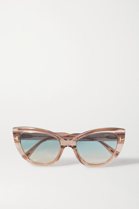 Tom Ford Cat-eye Acetate Sunglasses - Beige