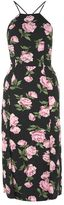 Topshop Floral strappy back midi dress
