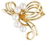 Mikimoto 18K Pearl Flourish Brooch
