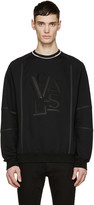 Versace Black Leather Logo Pullover