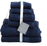 Jeff Banks Pure Cotton Supersoft Contemporary Towels, 6-Piece - Blue