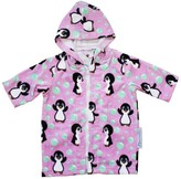 Back Beach Co Pink Penguin Hooded Towel Robe 3-5 yrs