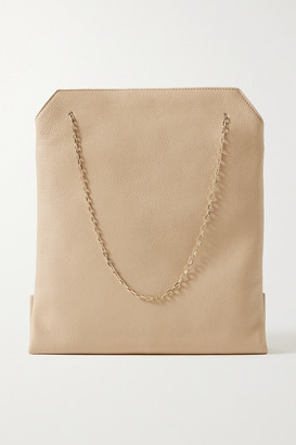 The Row Lunch Bag Small Leather Tote - Cream