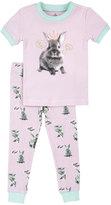Petit Lem Bunny Top & Pants Pajama Set, Pink, Size 2-4