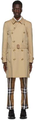 Burberry Beige Kensington Trench Coat