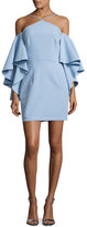 Milly Chelsea Stretch Crepe Cocktail Dress, Light Blue