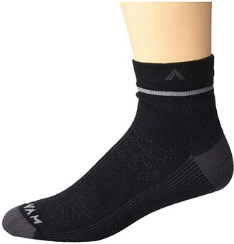 Wigwam Coeden Quarter (Black) Crew Cut Socks Shoes