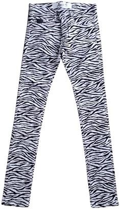 April 77 Ecru Cotton Trousers for Women