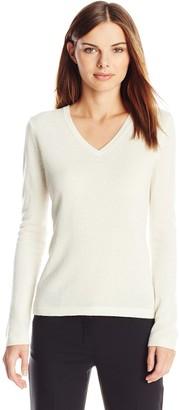 Lark & Ro Amazon Brand Women's 100% Cashmere Soft Slim Fit V-Neck Sweater