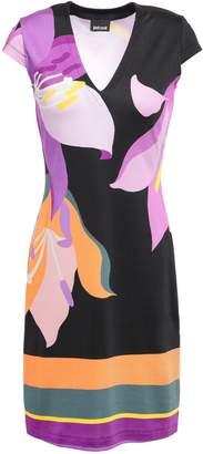 Just Cavalli Printed Stretch-jersey Mini Dress