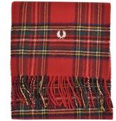 Fred Perry Royal Stewart Tartan Scarf Red