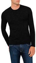 Armani Jeans Black Marl Jumper Raw Edge