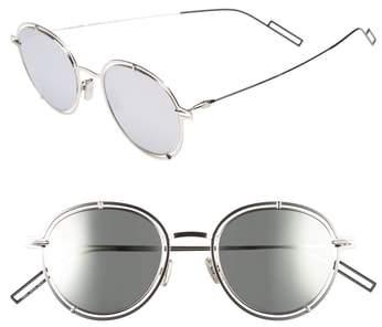 Christian Dior 49mm Round Sunglasses