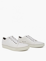 Lanvin Off-White Textured Linen Sneakers