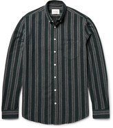 Steven Alan - Masters Button-down Collar Striped Brushed-cotton Shirt
