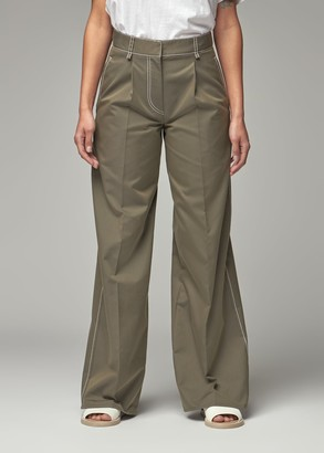 Dusan Women's Tailored Pant in Oliva Size 38