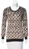 Marc by Marc Jacobs Sequin Embellished Intarsia Sweater