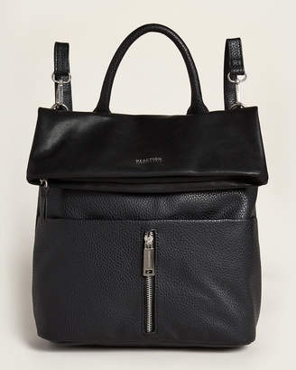 Kenneth Cole Reaction Black Free Fall Vegan Backpack