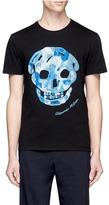Alexander McQueen Skull embroidered organic cotton T-shirt
