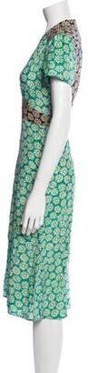 HVN Silk Midi Length Dress w/ Tags Green