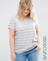 Asos Crew Neck T-Shirt In Stripe