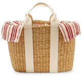 Muun Caba Striped Canvas And Straw Bag - Womens - Red Multi