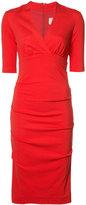 Nicole Miller empire line midi dress - women - Polyester/Spandex/Elastane/Rayon - S