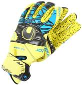 Uhlsport ELIMINATOR SPEED SUPERGRIPFINGER SURROUND Goalkeeping gloves lite fluo gelb/schwarz/hydro blau