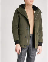Sandro Hooded Cotton-drill Coat