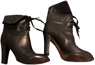 Chloé Black Leather Ankle boots