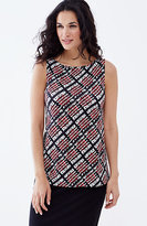 J. Jill Wearever Boat-Neck Sleeveless Print Top