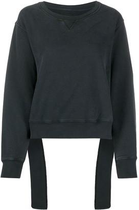 MM6 MAISON MARGIELA Cropped Fallen Waistband Sweatshirt