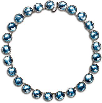 Larkspur & Hawk Olivia Button Riviere Necklace in Sky Foil