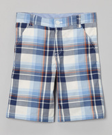 E-Land Kids Blue Plaid Shorts - Boys