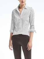 Banana Republic Riley-Fit Ruffle Cutout Shirt
