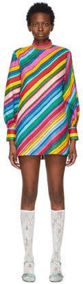 Gucci Multicolor Ken Scott Edition Linen Print Dress