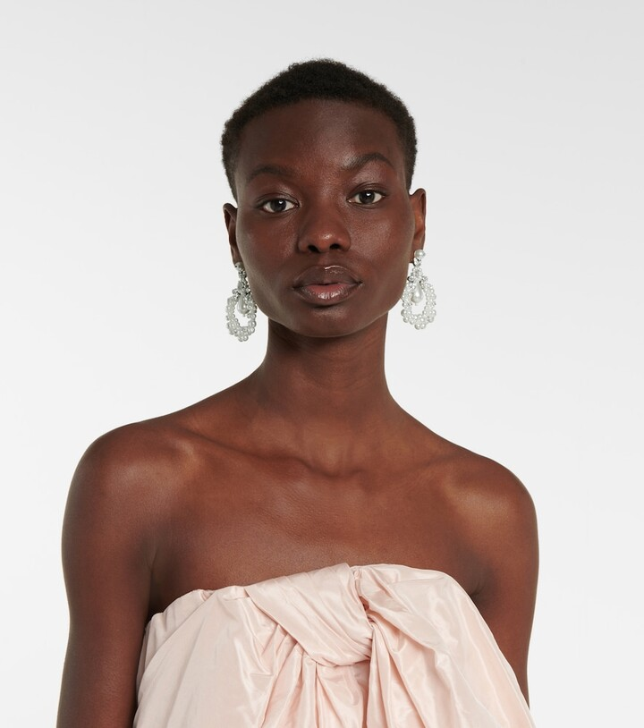 Thumbnail for your product : Simone Rocha Cameo embellished earrings