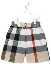 Burberry House Check shorts - kids - Cotton/Polyamide/Polyester - 8 yrs