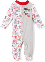 Baby Starters Gray & White 'Boys Will Be Boys' Footie - Infant