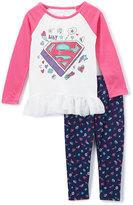 Children's Apparel Network Supergirl Pink Raglan Tee & Leggings - Kids