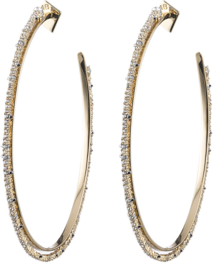 Alexis Bittar Oversized Crystal Lace Orbiting Hoop Earring