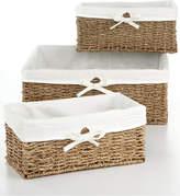 Household Essentials Storage Baskets, Set of 3 Seagrass Utility