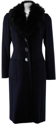 Escada Black Wool Coat for Women